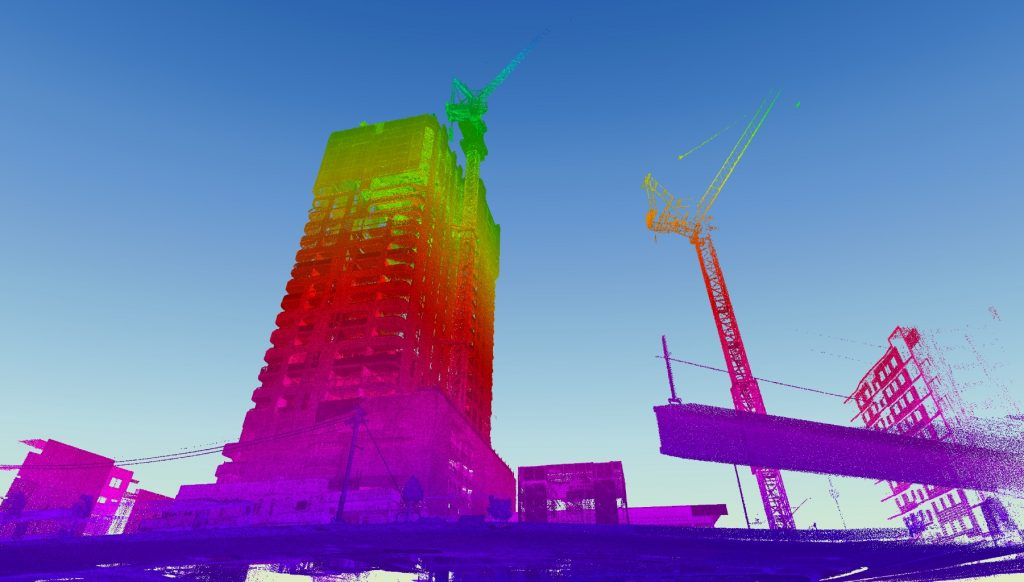 3D Point Cloud of Building Under Construction